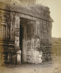 Close view of inner face of entrance gopura of the Narasimha Temple, Ahobilam.